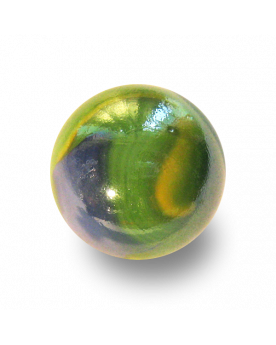 MyGlassMarbles - 9 Shooters Marbles Springtime - Glass Marble 25 mm by My GlassMarble