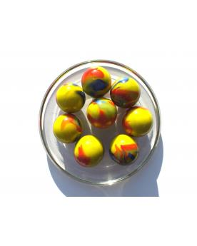 MyGlassMarbles - 4 Big Marble Impressionist - Glass Marbles 25 mm by My GlassMarble