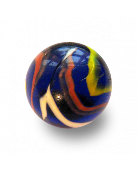 MyGlassMarbles - 4 Big Marble Michel Ange - Glass Marbles 25 mm by My GlassMarble