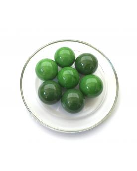 MyGlassMarbles - 4 Big Marble Green Pearl - Glass Marbles 25 mm by My GlassMarble
