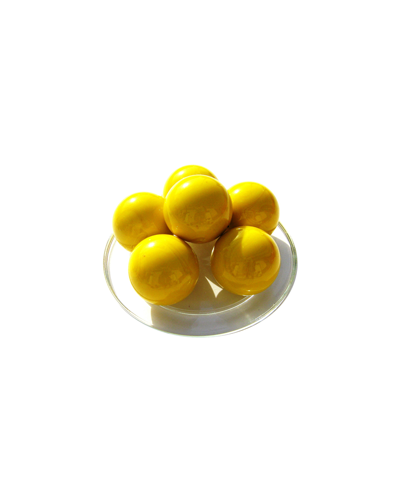 MyGlassMarbles - 2 Big Marbles Yellow Pearl - Glass Marble 35 mm by My GlassMarble