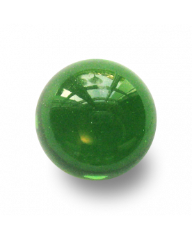 MyGlassMarbles - 2 Big Marbles Green Magnifier - Glass Marble 35 mm by My GlassMarble