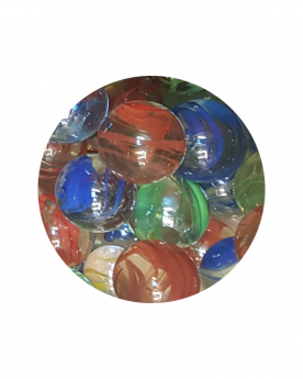 MyGlassMarbles - 2 Big Marbles Crumpled Colors - Glass Marble 35 mm by My GlassMarble