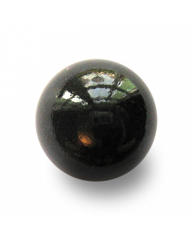 MyGlassMarbles - 2 Big Marbles Black Pearl - Glass Marble 35 mm by My GlassMarble