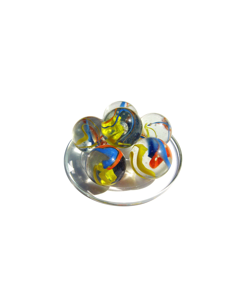 MyGlassMarbles - 2 Big Marbles Parrot - Glass Marble 35 mm by My GlassMarble