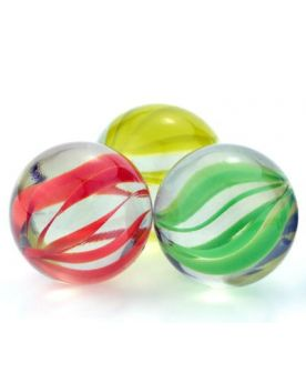 MyGlassMarbles - 2 Big Marbles Tornado - Glass Marble 35 mm by My GlassMarble