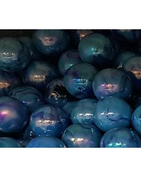 MyGlassMarbles - 2 Very Large Marbles Chinese blue - Glass Marble 43 mm by My GlassMarble