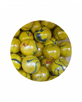 MyGlassMarbles - 2 Very Large Marbles Canary Islands - Glass Marble 43 mm by My GlassMarble