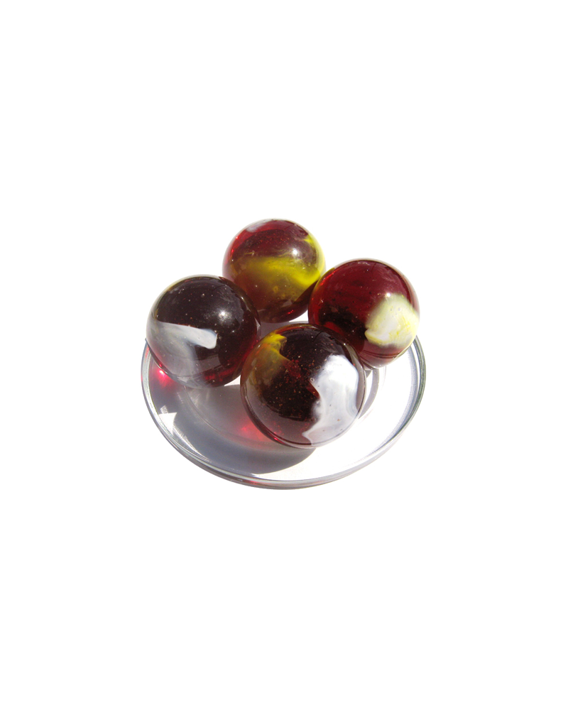 MyGlassMarbles - 2 Very Large Marbles Clown - Glass Marble 43 mm by My GlassMarble