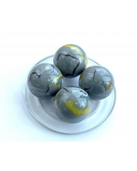 MyGlassMarbles - 2 Very Large Marbles Jurassic - Glass Marble 43 mm by My GlassMarble