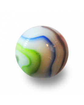 MyGlassMarbles - 2 Very Large Marbles Chiffonade - Glass Marble 43 mm by My GlassMarble