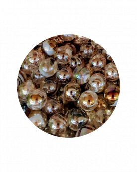 MyGlassMarbles - 2 Very Large Marbles Polar fleece - Glass Marble 43 mm by My GlassMarble