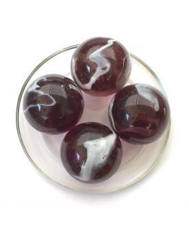 MyGlassMarbles - 2 Very Large Marbles Purple - Glass Marble 43 mm by My GlassMarble