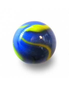 MyGlassMarbles - 2 Very Large Marbles Van Gogh - Glass Marble 43 mm by My GlassMarble