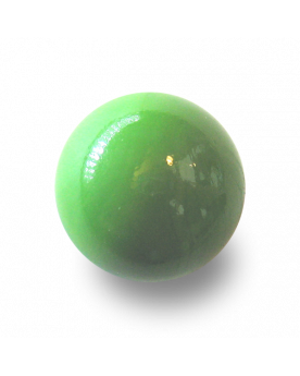 MyGlassMarbles - 2 Huge Green Pearl Marbles - Glass Marble 50 mm by My GlassMarble