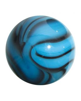 MyGlassMarbles - 2 Huge Zebra Marbles Turquoise - Glass Marble 50 mm by My GlassMarble