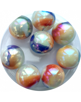 MyGlassMarbles - 2 Huge French Marbles - Glass Marble 50 mm by My GlassMarble