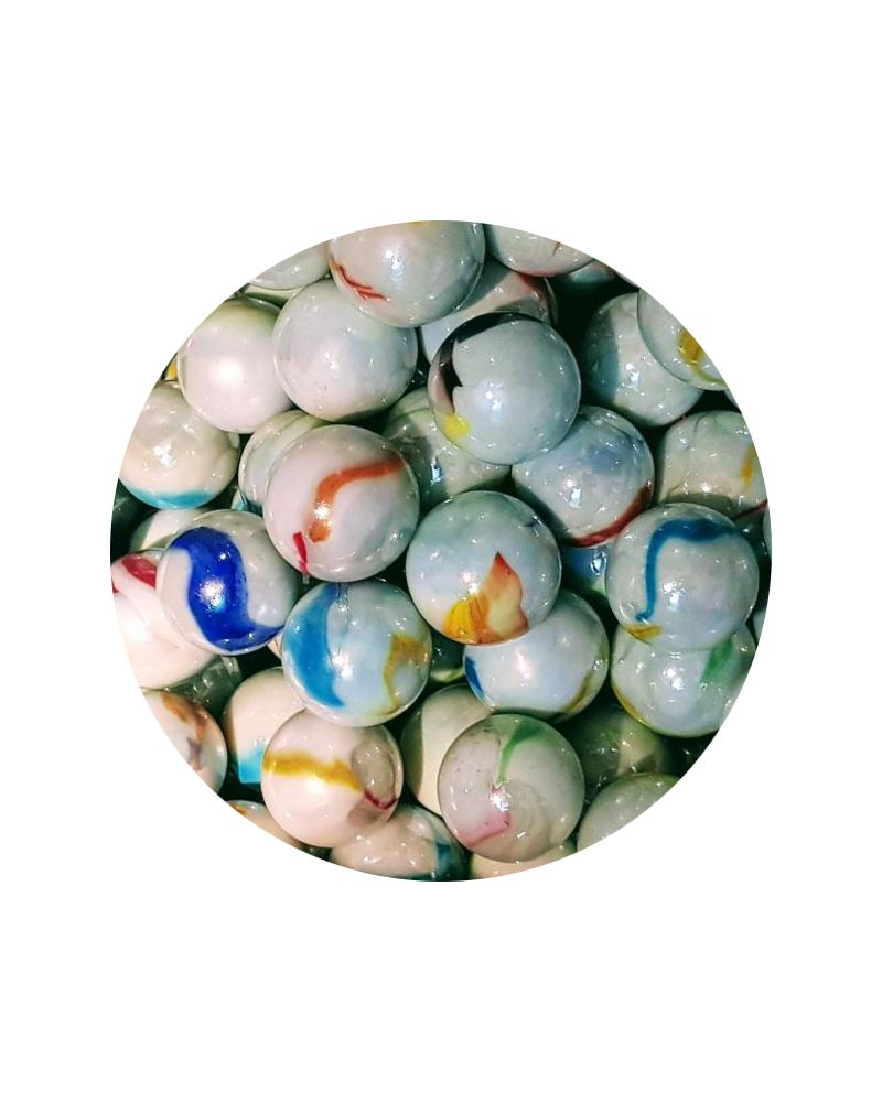 MyGlassMarbles - 2 Huge Chiffonade Marbles - Glass Marble 50 mm by My GlassMarble