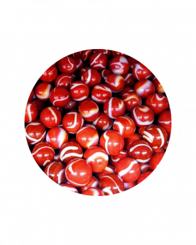 MyGlassMarbles - 30 Marbles Blood 14 mm GlassMarble by My GlassMarble