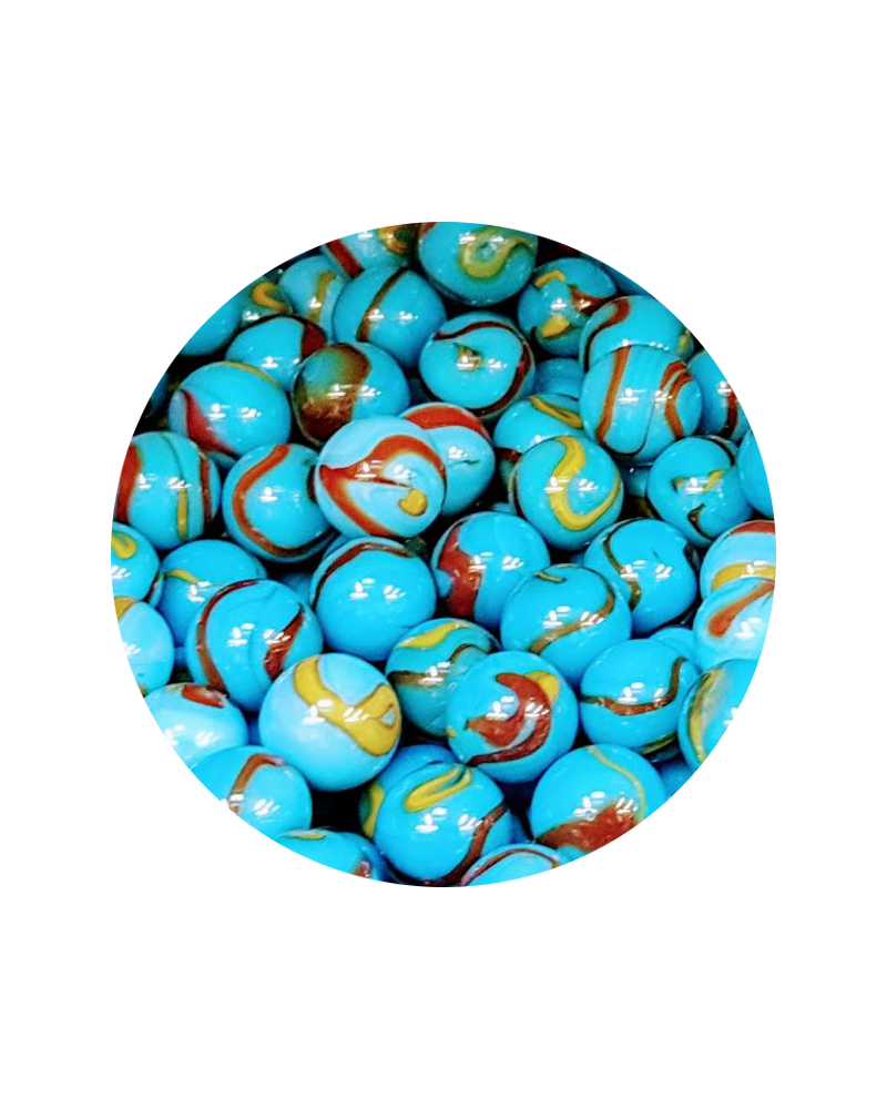 MyGlassMarbles - 30 Marbles Planet Earth 14 mm GlassMarble by My GlassMarble