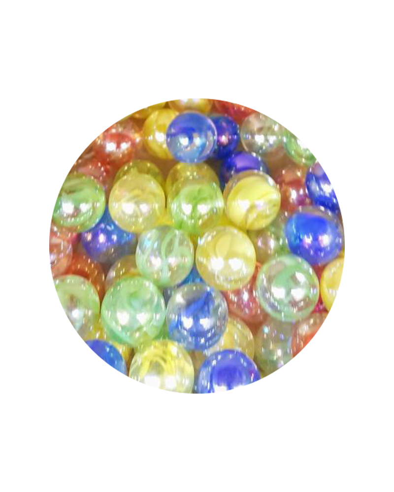 MyGlassMarbles - 30 Marbles Color Tornado - Glass Marble 14 mm by My GlassMarble