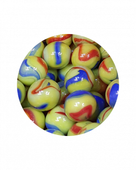 MyGlassMarbles - 30 Marbles Impressionist 14 mm GlassMarble by My GlassMarble