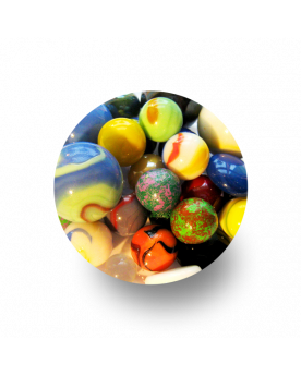 MyGlassMarbles - 50 Porcelain Marbles Glass of several sizes by My GlassMarble
