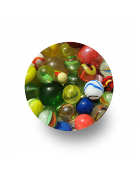 MyGlassMarbles - 50 Marbles to start in the playground Glass marble of several sizes by My GlassMarble
