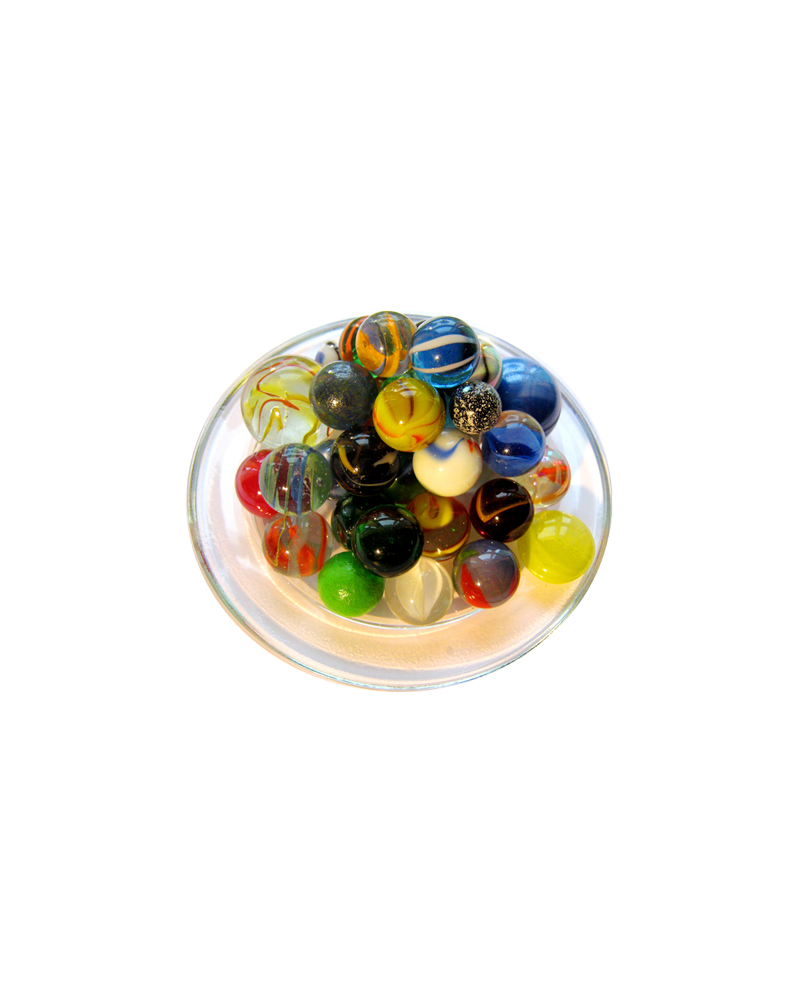 MyGlassMarbles - 50 Marbles in the colors of diversity, different sizes and all different by My GlassMarble
