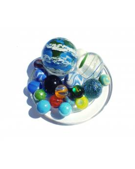 MyGlassMarbles - 50 Marbles Long live the Planet Glass marble of different sizes by My GlassMarble