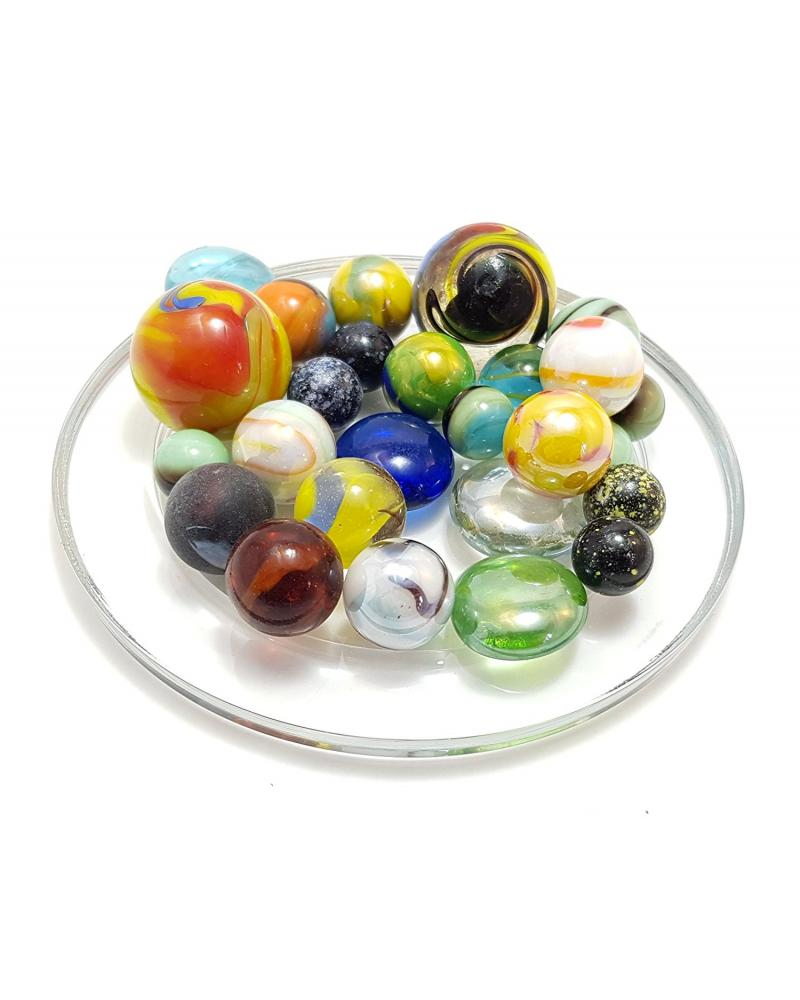 MyGlassMarbles - 30 Super mode Marbles Multi-size Glass Marble by My GlassMarble