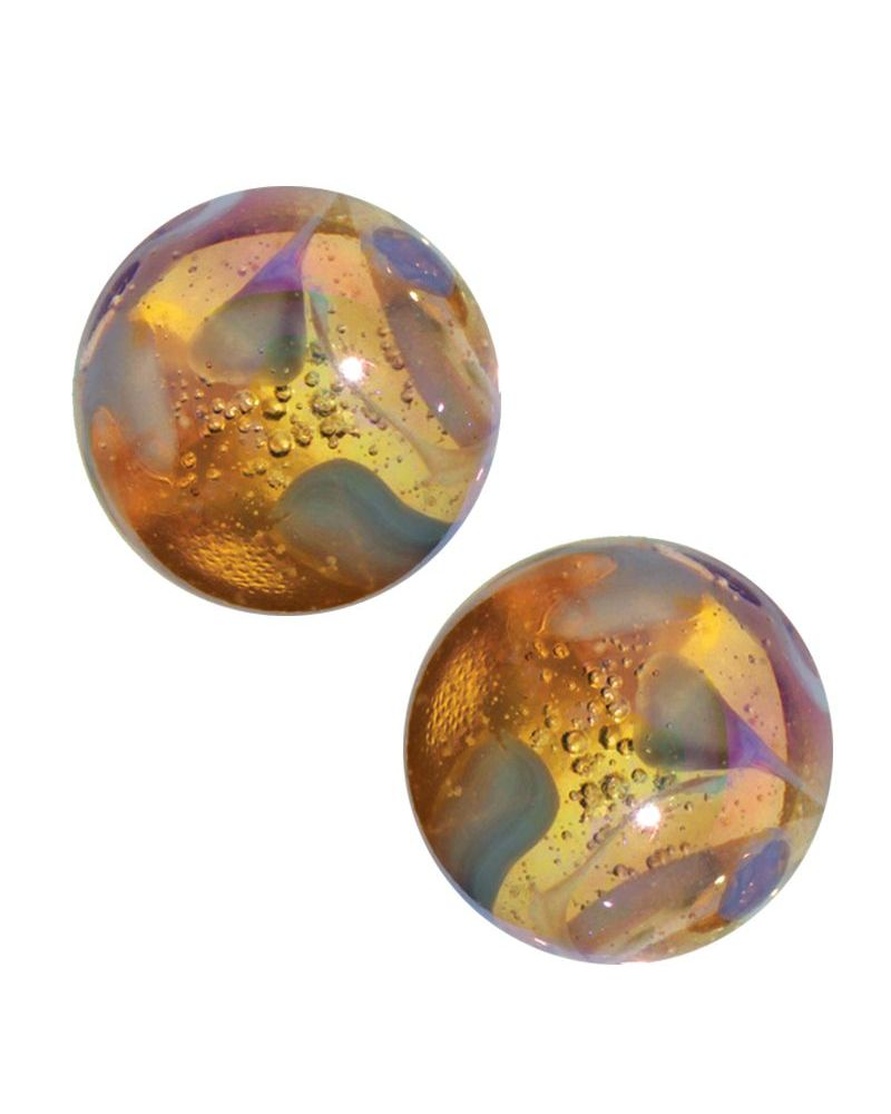 1 Large Marble Limonade 35 mm Glass Marbles