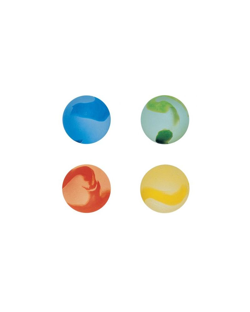 MyGlassMarbles - 2 Big Marbles Frosted Color - Glass Marble 35 mm by My GlassMarble