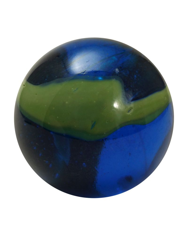 1 Green and Blue Abysse Marble - Glass Marbles 16 mm