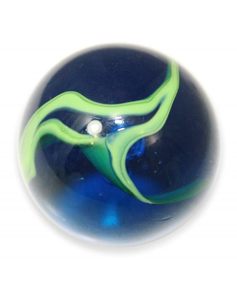 MyGlassMarbles - 25 Marbles Green and Blue Abysse Marble - Glass Marbles 16 mm by My GlassMarble