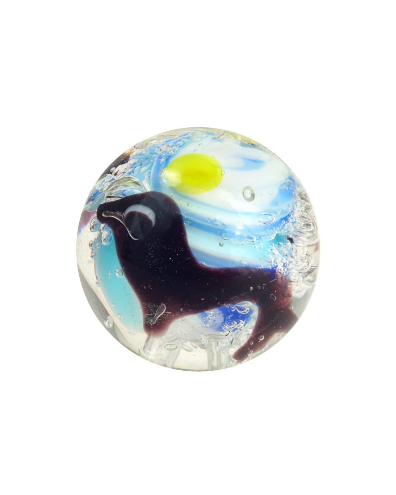 MyGlassMarbles - 4 glass art marbles Atlantis - 16 mm glass marble by My GlassMarble