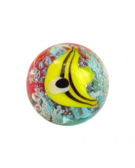 MyGlassMarbles - 3 glass art marbles Aquarius - 16 mm glass marble by My GlassMarble