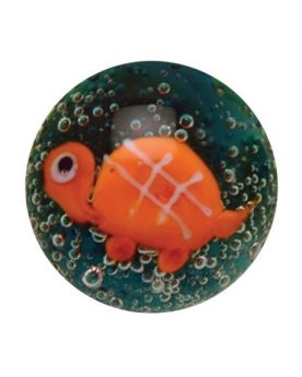 1 glass art marble Turtle - 16 mm glass marble