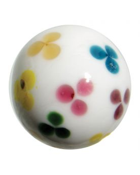 MyGlassMarbles - 3 glass art marbles Daisy - 16 mm glass marble by My GlassMarble