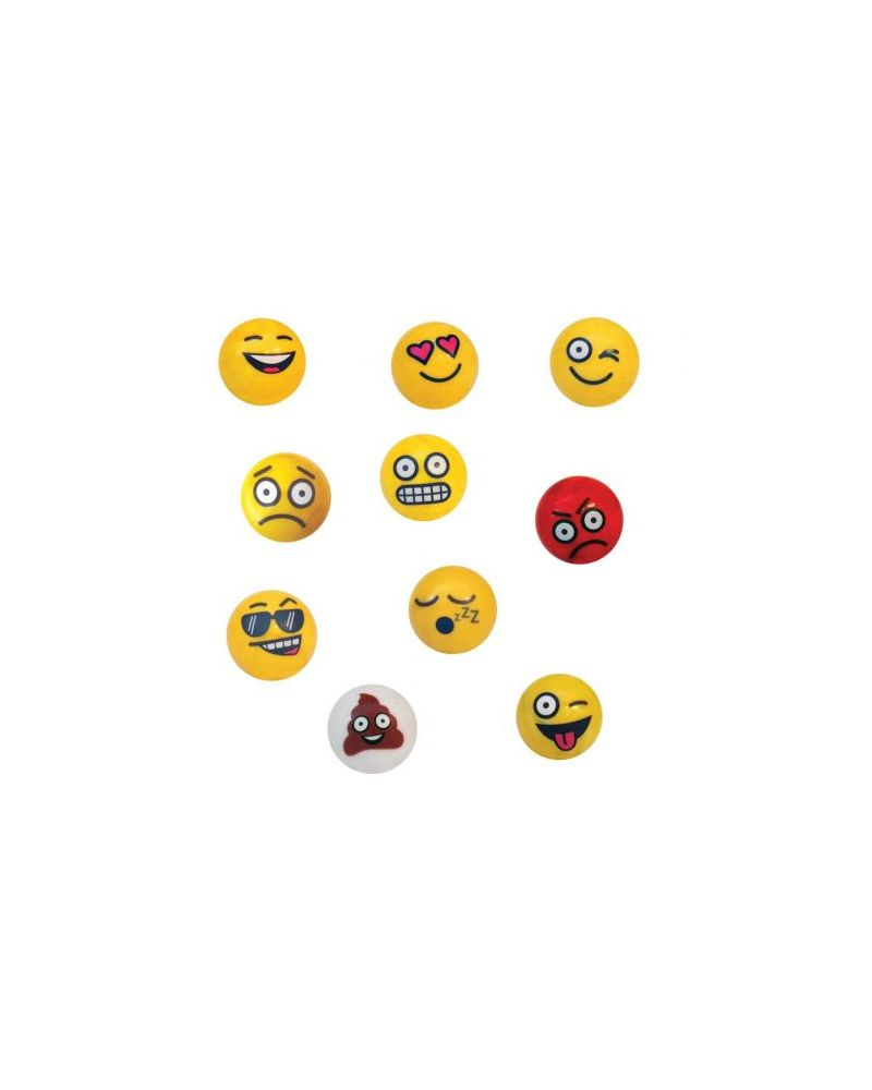 MyGlassMarbles - 3 Humor smiley marbles - 25 mm glass marble by My GlassMarble
