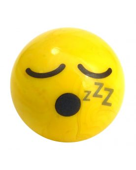 1 glass marble sleepy mood Smiley - 25 mm glass marble