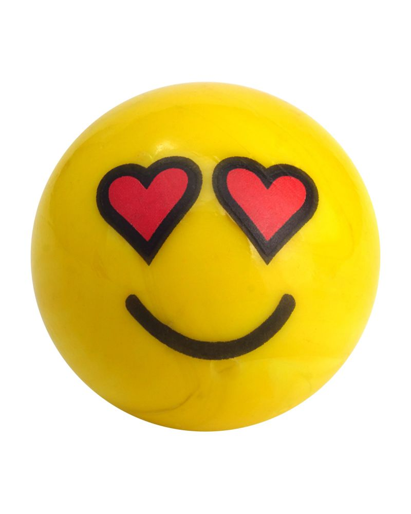 1 glass marble Smiley in love - 25 mm glass marble
