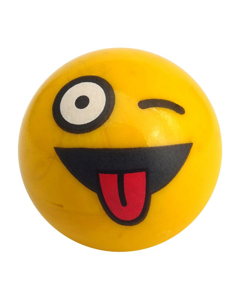 1 glass marble angry Smiley - 25 mm glass marble