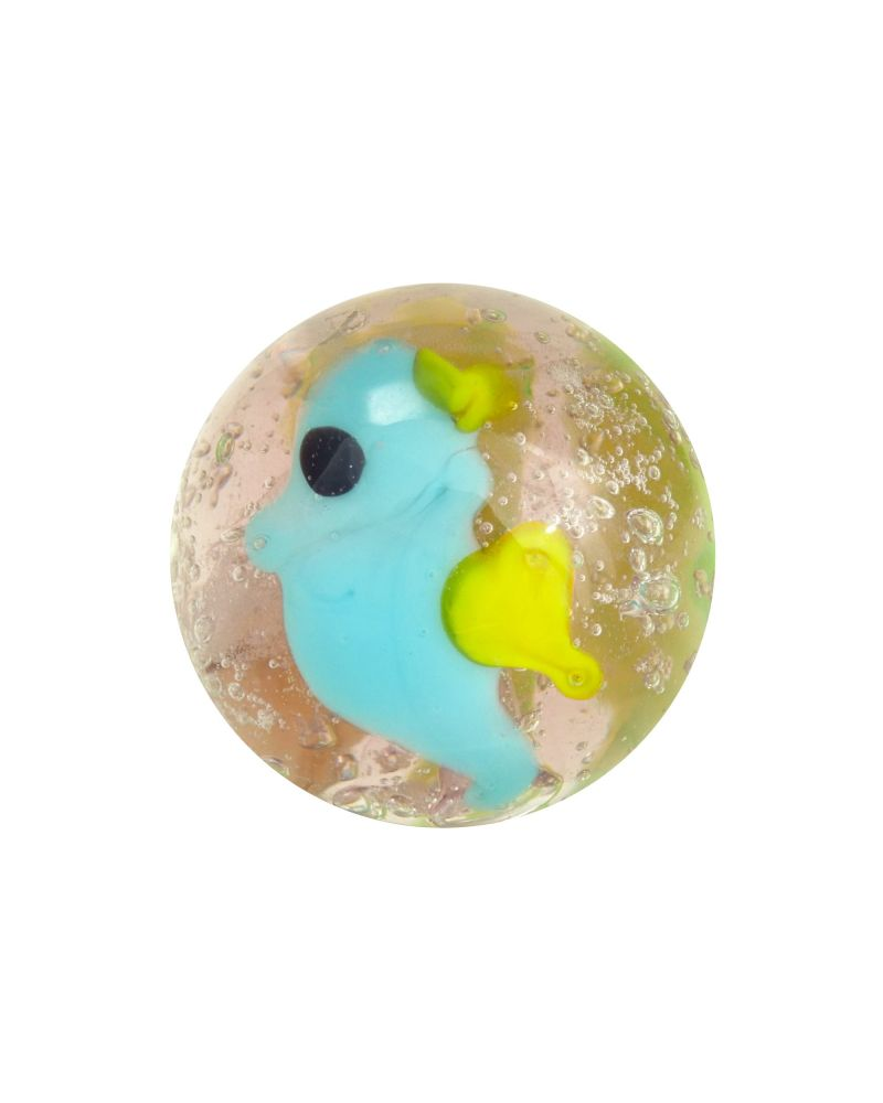 1 glass art marble Sea Horse - 16 mm glass marble