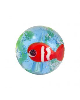 1 glass art marble Red Fish - 16 mm glass marble