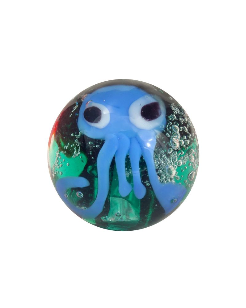 1 glass art marble Octopus - 16 mm glass marble