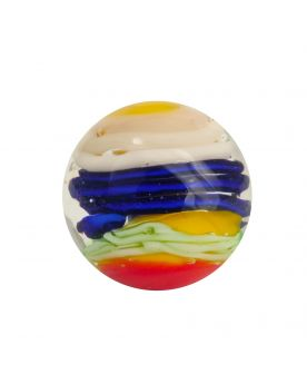 MyGlassMarbles - 3 glass art marbles Spiralo - 16 mm glass marble by My GlassMarble