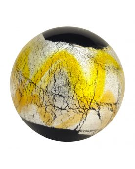 1 glass art marble Machu Picchu - 20 mm glass marble