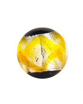 1 glass art marble Machu Picchu - 16 mm glass marble
