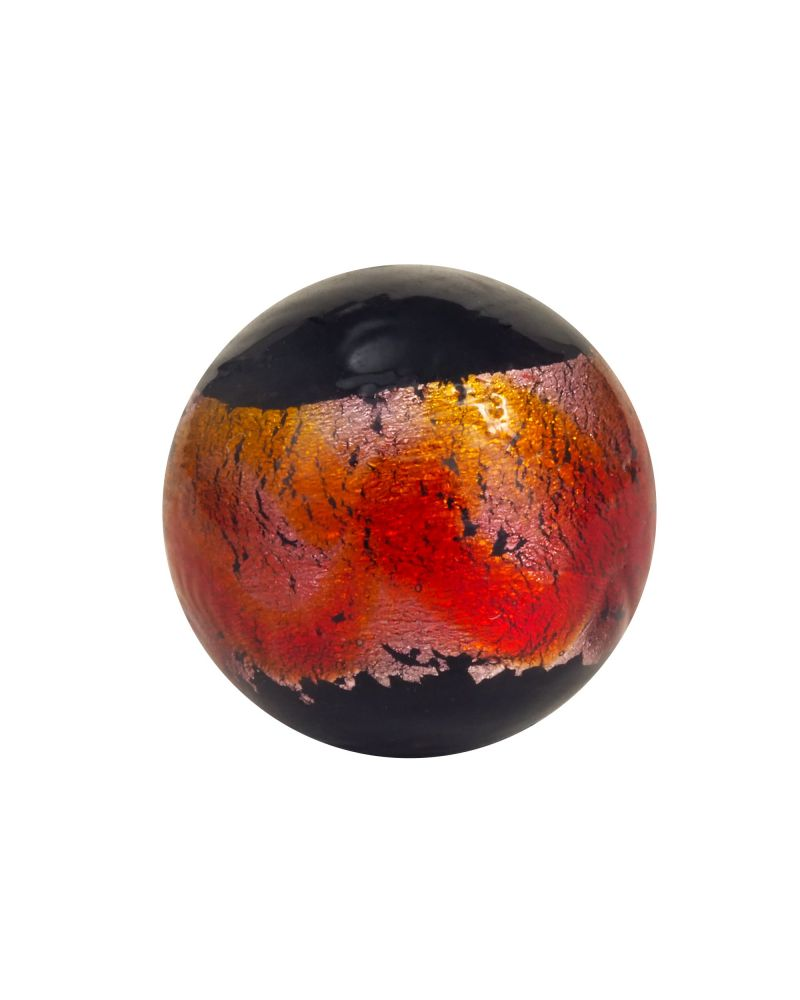 1 red marble Machu Picchu - 16 mm glass marble